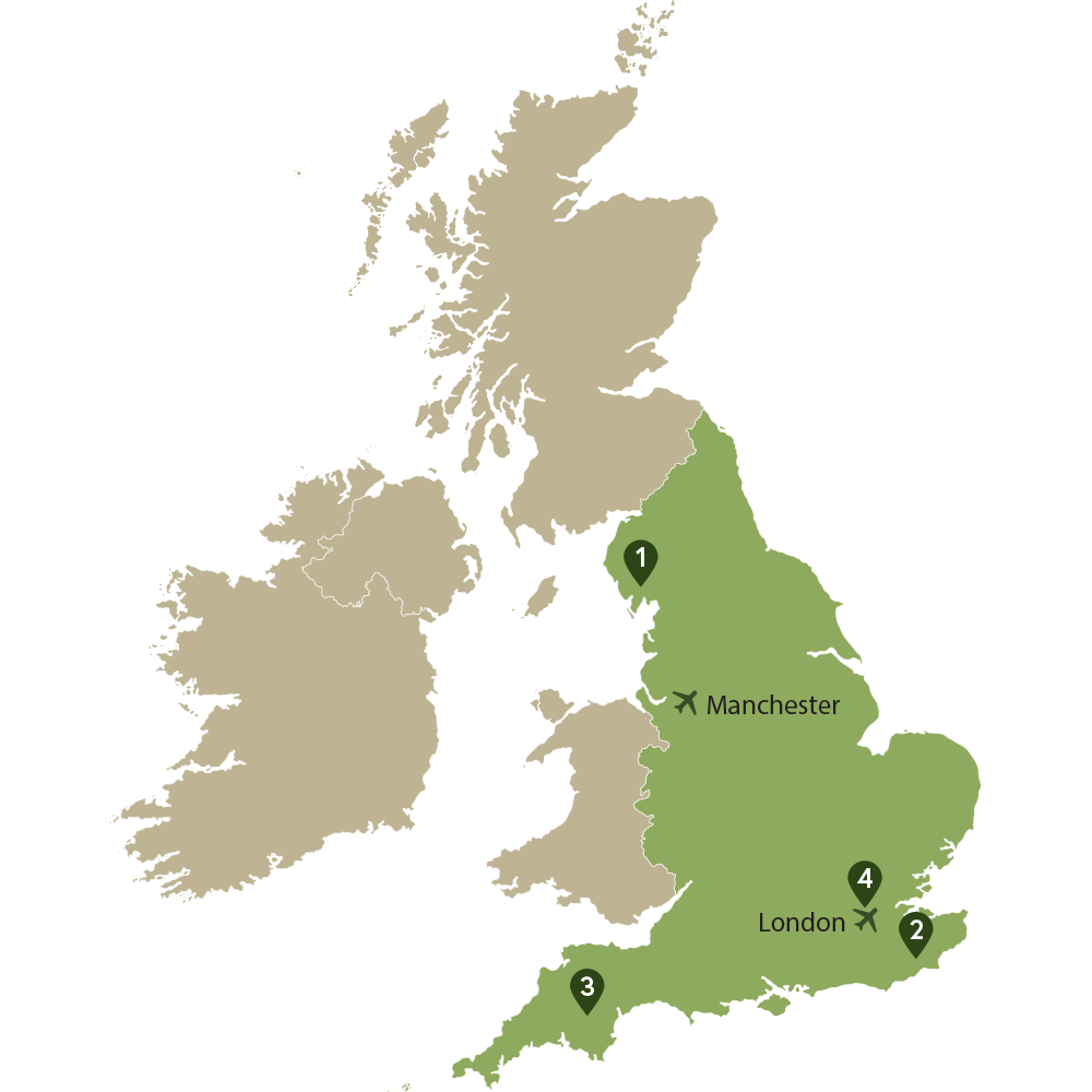 Map of UK with Ireland highlighted