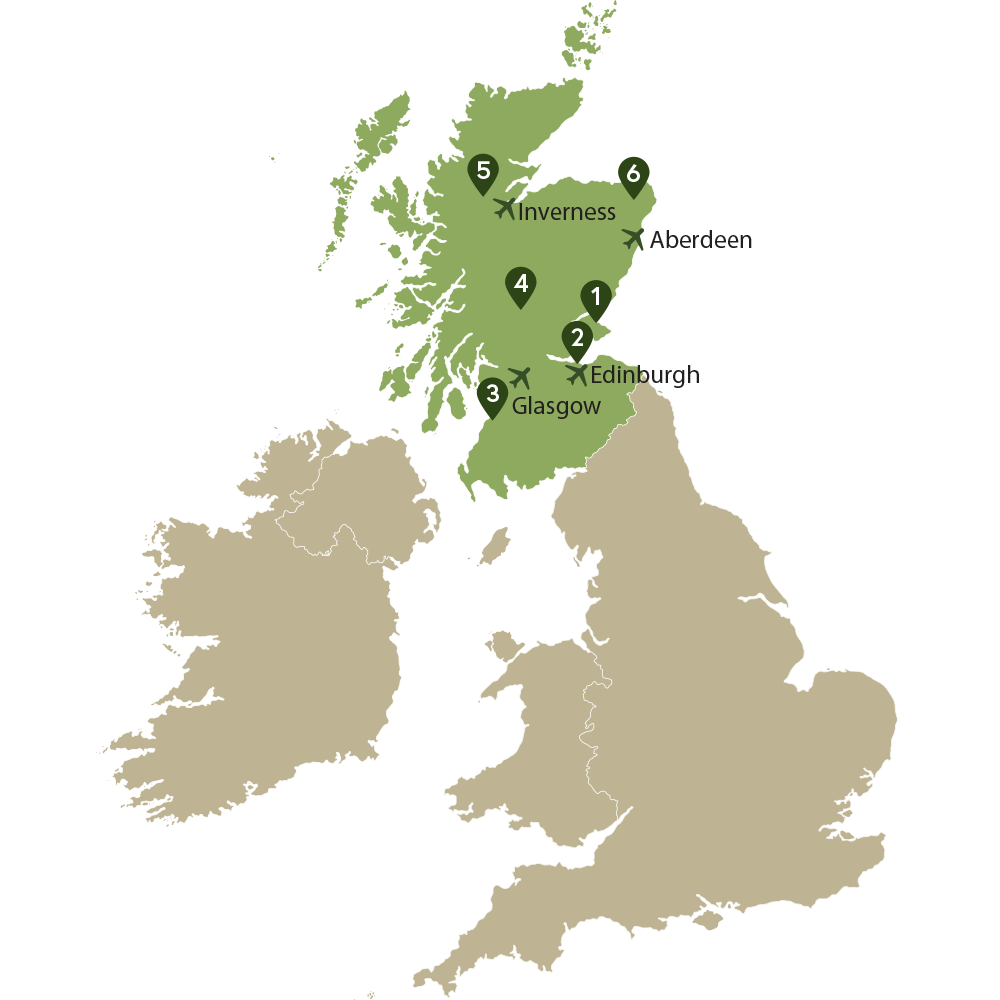 Map of UK with Scotland highlighted